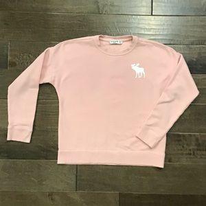 Abercrombie kids pink sweatshirt